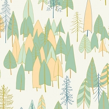 Dashwood Studio - Altitude Trees in Cream