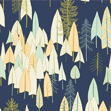 Dashwood Studio - Altitude Trees in Navy