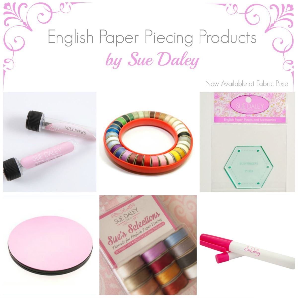 English Paper Piecing Products by Sue Daley