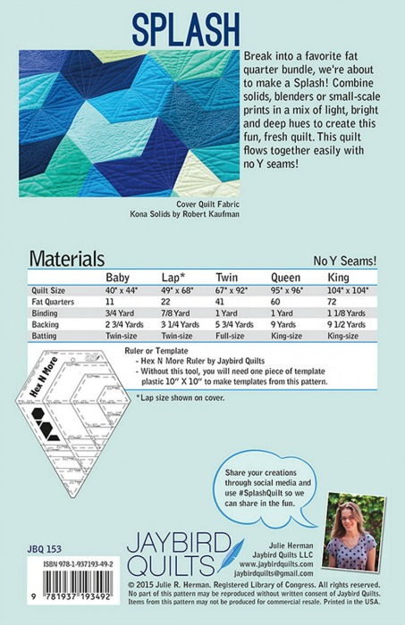 Jaybird Quilts - Splash Quilt Pattern