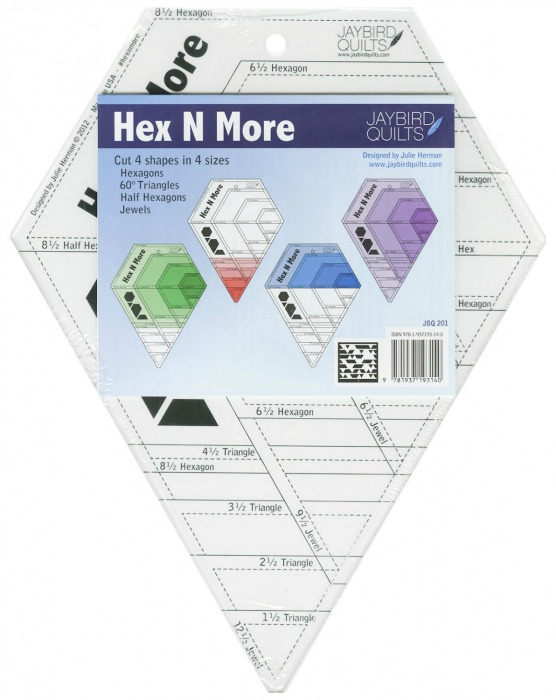 Jaybird Quilts Hex N More Acrylic Ruler