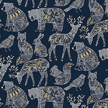 Dashwood Studio - Norrland Main in Navy with Gold Metallic Accents