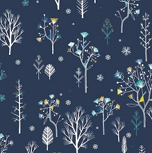 Dashwood Studio - Norrland Tree in Navy with Gold Metallic Accents