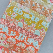 Fabric Scrap Bag - Tilda in Citrus Shades