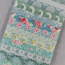 Fabric Scrap Bag - Tilda in Teal Shades