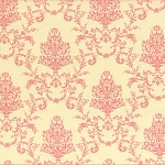 Lecien - Rococo Sweet 2014 - Damask Pink on Off White