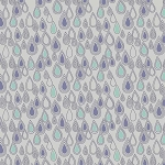 Lewis and Irene - April Showers - Raindrops on Grey *** REMNANT 2.6 METRE PIECE ***