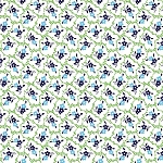 Red Rooster - Summer Cottage - Lattice Floral in Green *** REMNANT 1.41 METRE PIECE ***