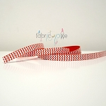 Chevron Grosgrain Ribbon in Red - 9mm