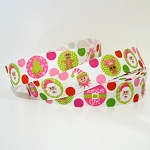 Printed Grosgrain Ribbon - Christmas Dots - 25mm