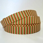 Printed Grosgrain Ribbon - Christmas Chevron - 25mm
