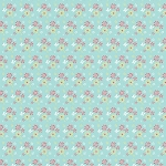 Riley Blake Designs - Butterfly Dance Flowers in Blue *** REMNANT 3 METRE PIECE ***
