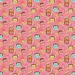 Riley Blake Designs - Happy Flappers - Owl Hideout in Pink