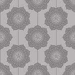 Riley Blake Designs - The Cottage Garden - Wallpaper in Grey *** REMNANT 3 METRE PIECE ***