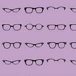 Riley Blake Designs - Geekly Chic Glasses in Lavender