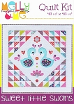 Melly & Me -  Flutterberry - Sweet Little Swans Quilt Kit - 48.5