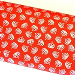 Riley Blake Designs - Hollywood Sparkle Crowns in Red *** REMNANT 1.25 METRE PIECE ***