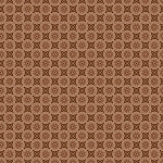 SPX  - Friendly Forest Flower Dot in Brown *** REMNANT 1.12 METRE PIECE ***