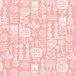 Moda - Lil Red Grandmothers Wallpaper in Pink