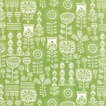 Moda - Lil Red Grandmothers Wallpaper in Leaf Green