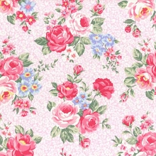 Lecien - Princess Rose Spring 2017 - Large Floral in Pink