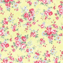 Lecien - Princess Rose Spring 2017 - Small Floral in Yellow