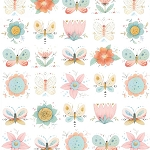 Studio E - Dream Catchers by Lucie Crovatto - Butterflies and Flowers in White