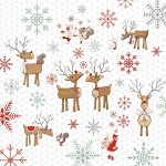 Studio E - Joy, Love, Peace by Lucie Crovatto - Reindeer in White