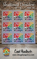 Shattered Dresden Quilt pattern by 3 Dog Design Company