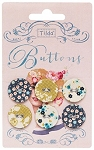 Tilda - Memory Lane Fabric Covered Buttons - 20mm