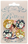 Tilda - Memory Lane Fabric Covered Buttons - 25mm
