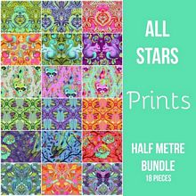 Freespirit - Tula Pink - ALL STARS - Prints - Half Metre Bundle of 18 Pieces *** PRE-ORDER - ARRIVING MARCH/APRIL 2018 ***