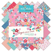 Riley Blake Designs -  Forget Me Not - Half Metre Bundle of 18 Pieces