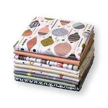 Andover Fabrics - Modern Metallic Christmas Pastels - Fat Quarter Bundle of 9 Pieces