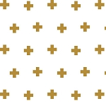 Riley Blake Designs - Double Gauze Plus Print in Gold 145cm Wide
