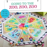 Homespun BOM 2017 - Going to the Zoo, Zoo, Zoo Play Mat Quilt Kit