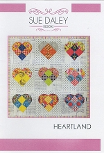 Sue Daley Designs - Heartland Wall hanging Pattern and Template and Papers Pack