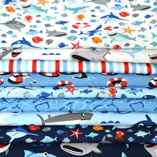 Riley Blake Designs -  Sharktown - Half Metre Bundle of 9 Pieces