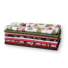 Andover Fabrics - Modern Metallic Christmas Brights - Half Metre Bundle of 9 Pieces