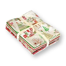 Andover Fabrics - Traditional Metallic Christmas - Half Metre Bundle of 15 pieces