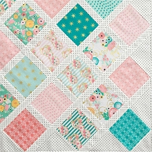 Riley Blake Designs - Just Sayin Quilt Kit for Baby Lattice Tutorial