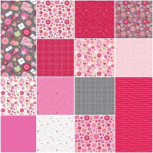 Riley Blake Designs - Lovebugs - Half Metre Bundle of 14 Pieces