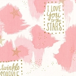 Michael Miller - Magic by Sarah Jane - You are Magic in Pink with Metallic Gold