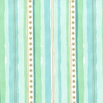 Michael Miller - Magic by Sarah Jane - Stars and Stripes in Aqua with Metallic Gold
