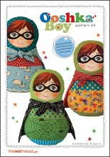 The Red Thread - Super Ooshka Doll Pattern plus printed fabric face panel