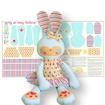 Riley Blake Designs - Sweet Home by Melly & Me - Buttercup Bunny Panel in Blue