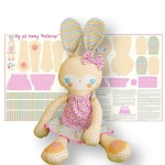 Riley Blake Designs - Sweet Home by Melly & Me - Buttercup Bunny Panel in Yellow