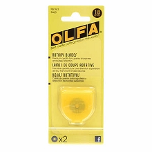 Olfa Replacement Blades for 18 mm Rotary Cutter - Pack of 2 Blades