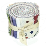 Riley Blake Designs - Maverick - 2.5 Inch Rolie Polie of 18 Fabrics