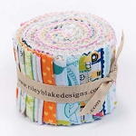 Riley Blake Designs - Snapshots 2.5 Inch Rolie Polie of 18 fabrics